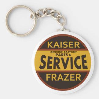 Vintage Kaiser Frazer service sign Basic Round Button Key Ring