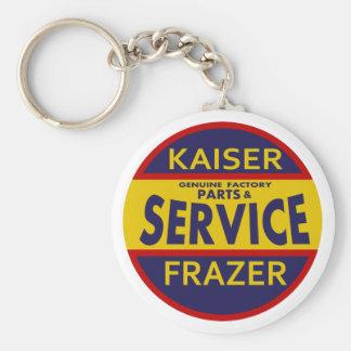Vintage Kaiser Frazer service sign red/blue Basic Round Button Key Ring