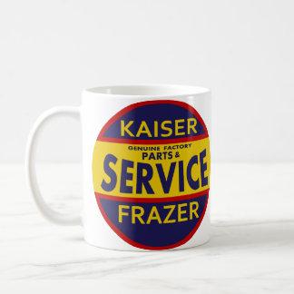 Vintage Kaiser Frazer service sign red/blue Basic White Mug