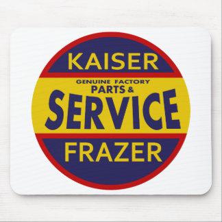 Vintage Kaiser Frazer service sign red/blue Mouse Pad
