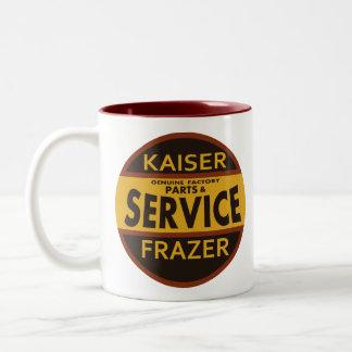 Vintage Kaiser Frazer service sign Two-Tone Mug