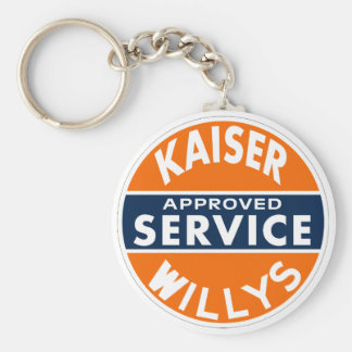 Vintage Kaiser Willys service sign Basic Round Button Key Ring