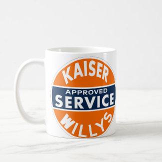 Vintage Kaiser Willys service sign Basic White Mug