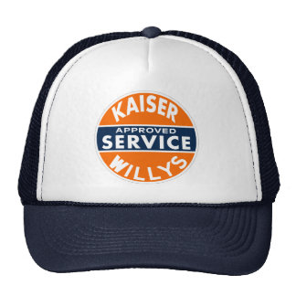Vintage Kaiser Willys service sign Mesh Hats