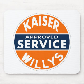 Vintage Kaiser Willys service sign Mouse Pad
