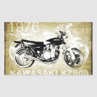 Vintage Kawasaki KZ900 Motorcycle Rectangle Stickers