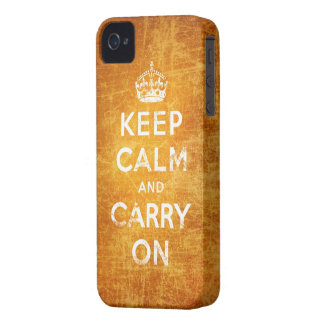 Vintage keep calm and carry on blackberry bold case