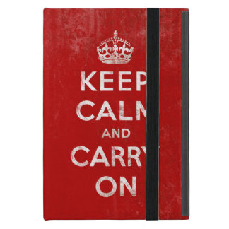 Vintage Keep Calm and Carry On Case For iPad Mini