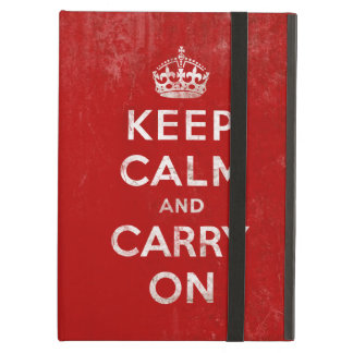 Vintage Keep Calm and Carry On iPad Air Cases