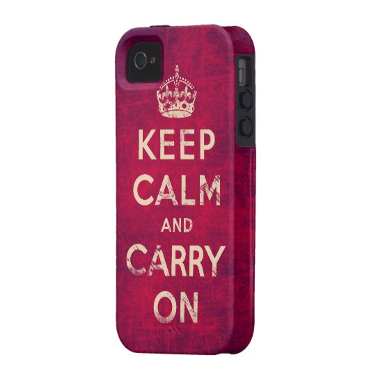 Vintage keep calm and carry on iPhone 4/4S cases