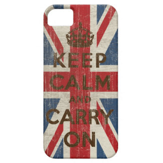Vintage Keep Calm And Carry On iPhone 5 Covers