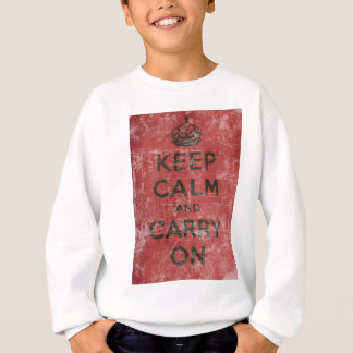 Vintage Keep Calm And Carry On Sweatshirt