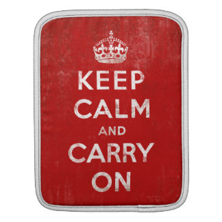 Vintage Keep Calm and Carry On Tablet iPad Case