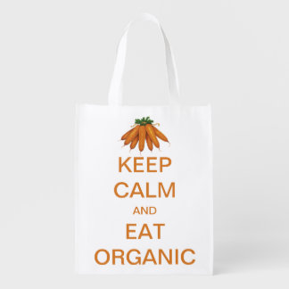 Vintage Keep Calm and Eat Organic Carrots