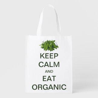 Vintage Keep Calm and Eat Organic Peas