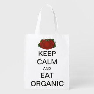 Vintage Keep Calm and Eat Organic Tomato