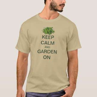 Vintage Keep Calm and Garden On Sugar Snap Peas T-Shirt