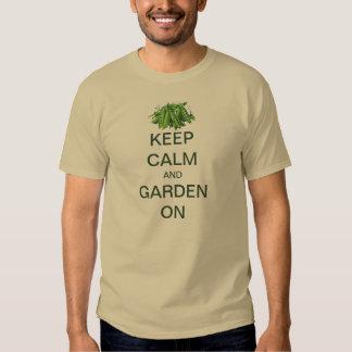 Vintage Keep Calm and Garden On Sugar Snap Peas Tee Shirts
