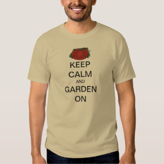 Vintage Keep Calm and Garden On Tomato T-shirts