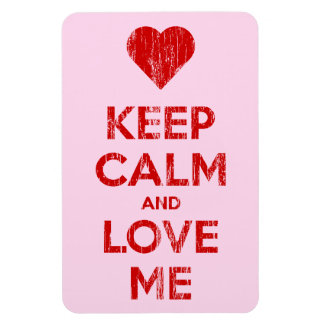 Vintage Keep Calm And Love Me Pink Magnet