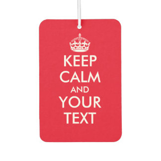 Vintage keep calm and your text car air freshener