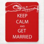 Vintage KEEP CALM  GET MARRIED Mousepad