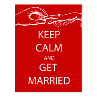 Vintage KEEP CALM  GET MARRIED Postcard