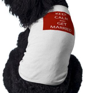 Vintage KEEP CALM  GET MARRIED Sleeveless Dog Shirt
