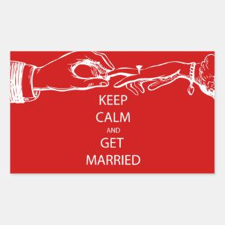 Vintage KEEP CALM GET MARRIED Stickers