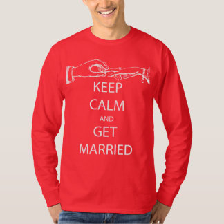 Vintage KEEP CALM  GET MARRIED T-Shirt