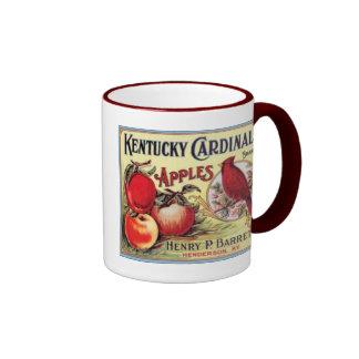 Vintage Kentucky Cardinal Apples, Henry P Barret,  Coffee Mugs