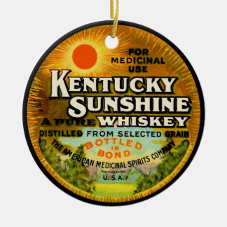 Vintage Kentucky Whiskey Label Christmas Ornament