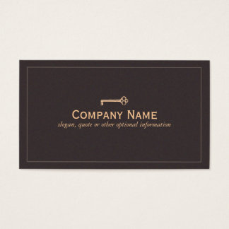 Vintage Key Business Card