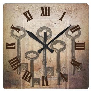 Vintage Key Door Wall Clock