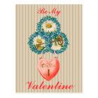 Vintage Key to My Heart Valentine Postcard
