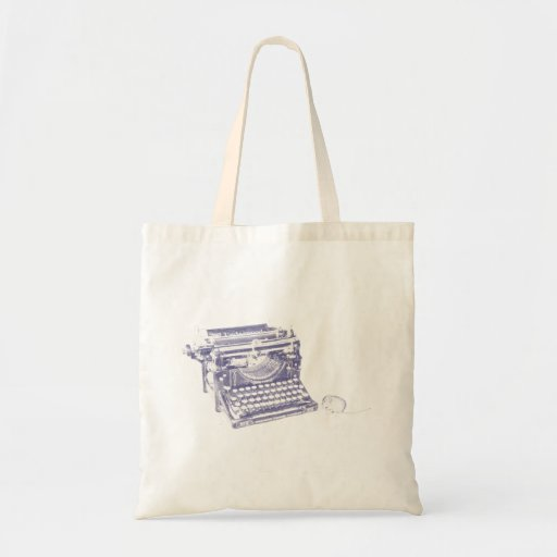 Vintage keyboard and mouse tote bag