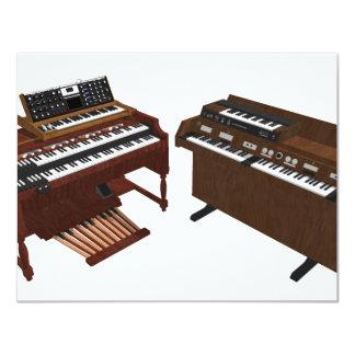 Vintage Keyboards: 3D Model: 11 Cm X 14 Cm Invitation Card
