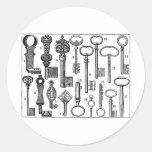 Vintage Keys Stickers