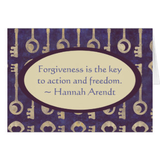 Vintage Keys with Hannah Arendt Quote Card