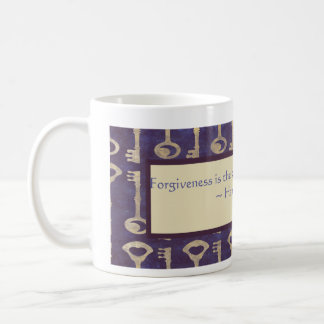 Vintage Keys with Hannah Arendt Quote Coffee Mug