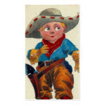 Vintage Kid Cowboy Double-Sided Standard Business Cards (Pack Of 100)