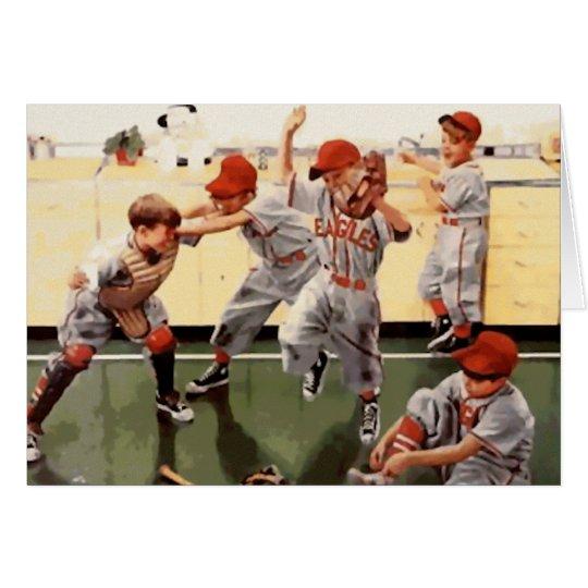 Vintage Kids Baseball Card