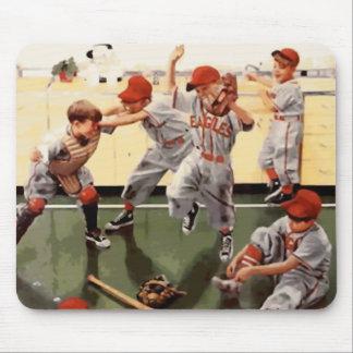 Vintage Kids Baseball Mouse Pad