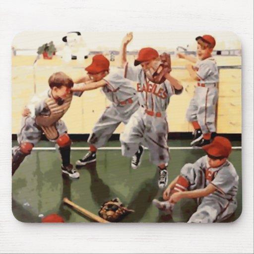 Vintage Kids Baseball Mousepads