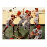 Vintage Kids Baseball Postcard