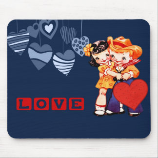 Vintage Kids Valentine's Day Gift Mousepads