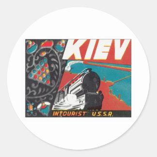 Vintage Kiev Ukraine Classic Round Sticker