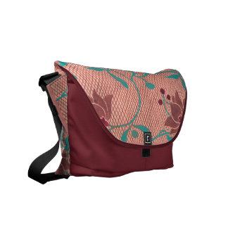 Vintage Kimono Pattern Messenger Bag