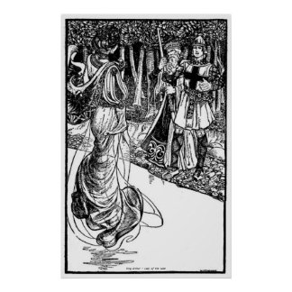 Vintage - King Arthur - Lady of the Lake Poster