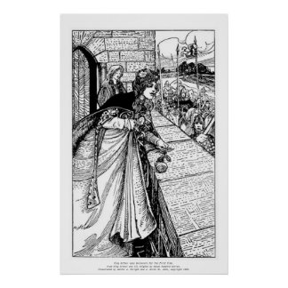 Vintage - King Arthur Sees Guinevere Poster